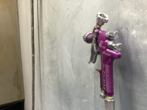 Our spray gun for powder coating