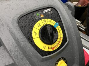 Hot jet washing with our Karcher Professional HDS 6/12 C