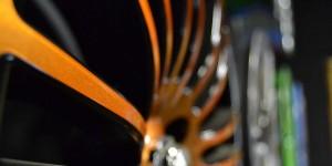 Orange wheel close up