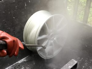 Hot jet washing to clean any remaining traces of chemical