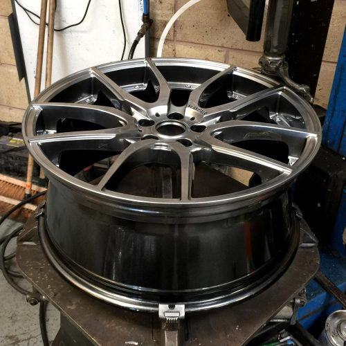 Wheel before tyre being fitted
